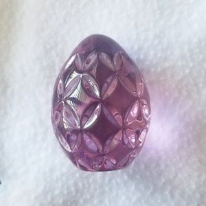 Pink Waterford Crystal Egg Paperweight
